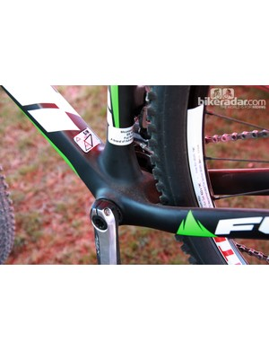 Fuji's new carbon 29er hardtail uses a BB92 press-fit bottom bracket, which allows for more widely spaced chainstays and more tire clearance