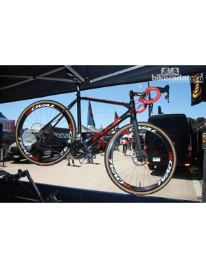 Fuji previewed the new Altamira CX Disc at Sea Otter