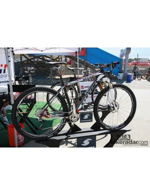 The new Stevens Sondra SL 29er carbon hardtail was on display at the Sea Otter Classic