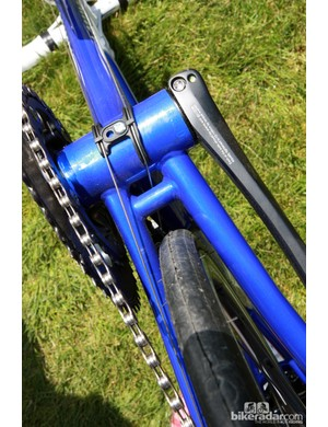 Despite the traditional steel construction, even Breezer has moved to a press-fit bottom bracket for the Venturi model