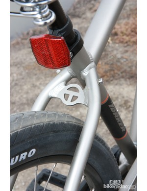 The new aluminum Torker 29er cruiser frame is adorned with the company's latest logo