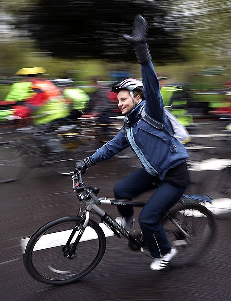 An estimated 10,000 took part in London's Big Ride on Saturday