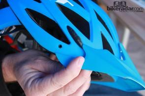 The MET Kaos comes with a removable visor