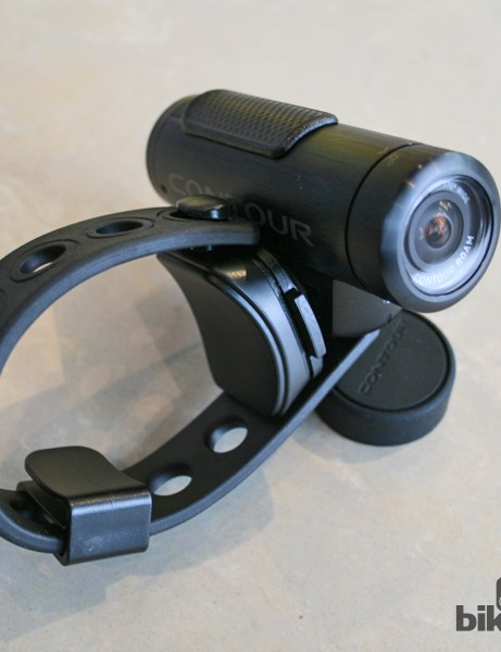 ContourROAM camera with the Flex Strap Mount attached