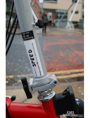 Each Brompton is named to stop group riders mixing up their bikes