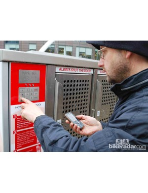 After you've registered with Brompton Dock and reserved a bike, a PIN number is sent to your phone which you must use to unlock the dock