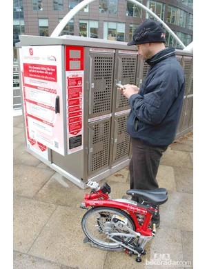 To return the bike, you have to text Brompton Dock for another PIN
