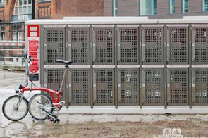 The Brompton Dock at Manchester Piccadilly station lets you hire a folding bike to explore the city