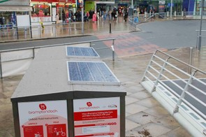 Solar panels top up the dock's power