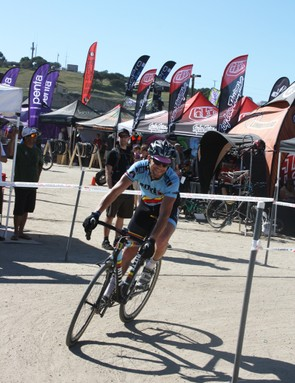 Cyclo-cross in the blazing heat isn't really in the spirit of the sport!
