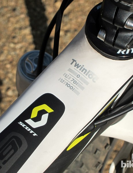 The suspension performance of the Scott Spark 29 RC hinges on the clever Twinloc system