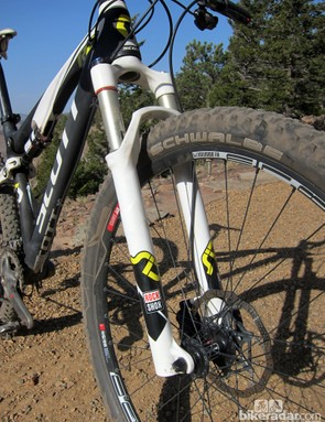 Aside from needing to replenish the lower leg oil bath a couple of times, the RockShox SID 29 RLT3 fork was smooth and trouble-free. We sorely missed having a through-axle, though