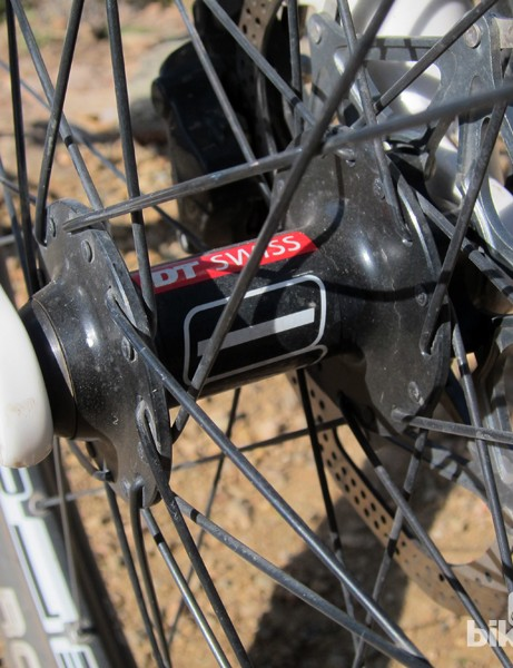 The included DT Swiss wheels are based on the mid-range 350 hubs, not the upper-end 240s units