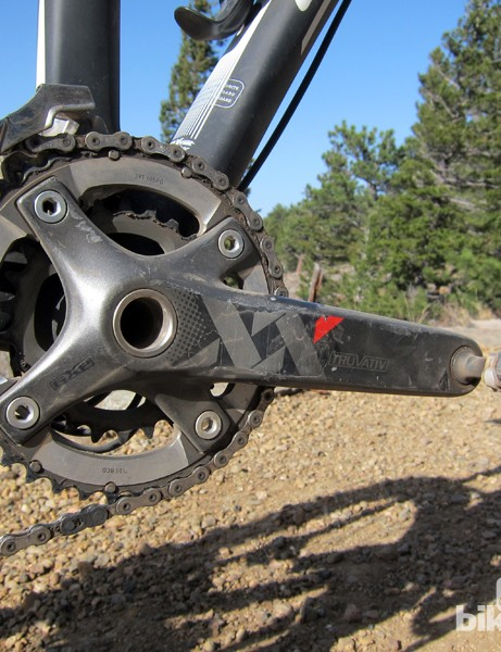 We subjected the Truvativ XX carbon crank to more than its fair share of rock strikes during our six months of testing with nothing but a few scrapes to show for it