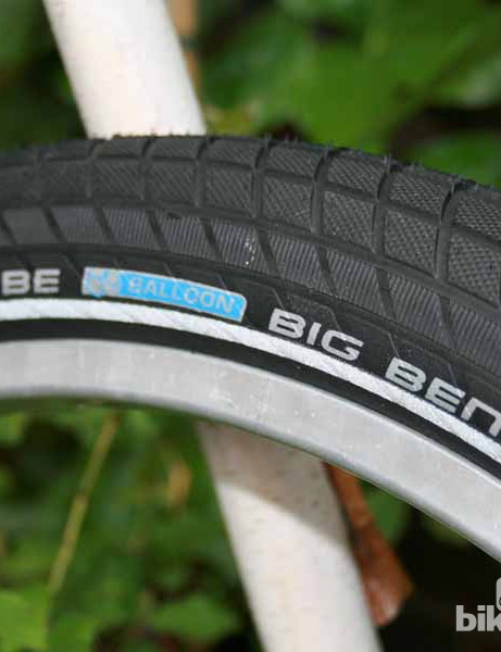Schwalbe's new Big Ben commuter tyre is similar to their Big Apple rubber in shape but with a different tread pattern