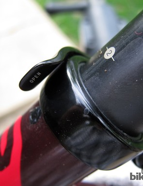 Once you're all done, even a half-hearted glue job will be barely visible but still very effective. The O-ring up top prevents water from wicking into the tiny gap in between the seatpost and seat tube
