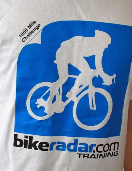Win a BikeRadar 1000 mile challenge t-shirt