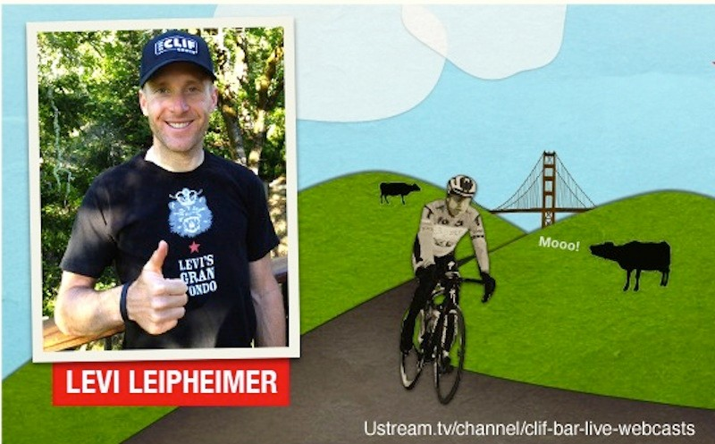 Chat with Levi Leipheimer today, care of CLIF Bar