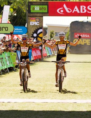 Stander and Sauser won the 2012 Cape Epic on Rotor's Q-Rings