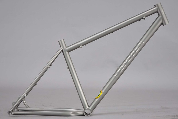Pipedream's eye-catching X R931 frame is made from shiny Reynolds stainless steel