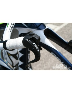 Close up of the Campy tech lab electronic shifters