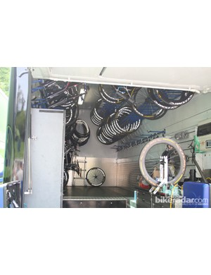 A peek inside Garmin-Barracuda's truck