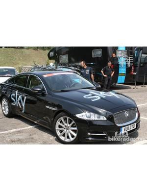 Team Sky's Jaguar Sportbrake XF team car