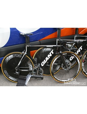 Rabobank are riding these Giants, still a very fast bike
