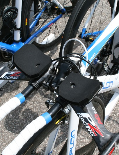 The cockpit on this NetApp Simplon TT bike