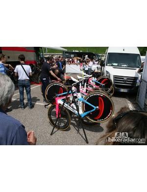 Lampre rode the Wilier Twinfoil TT bike
