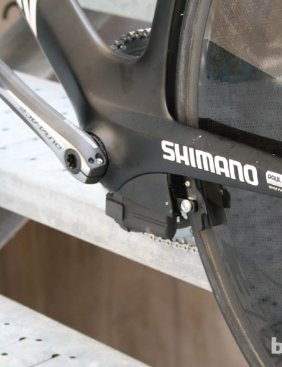 The chainstays are shaped to improve airflow around the back of the bike