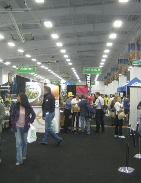 The main floor of Bike Expo NYC