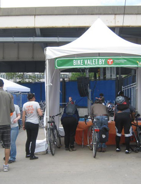 The expo offered valet bike parking