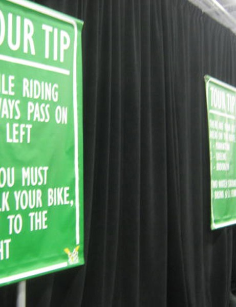 There was plenty of signage in place to help the 43,000 visitors navigate the halls