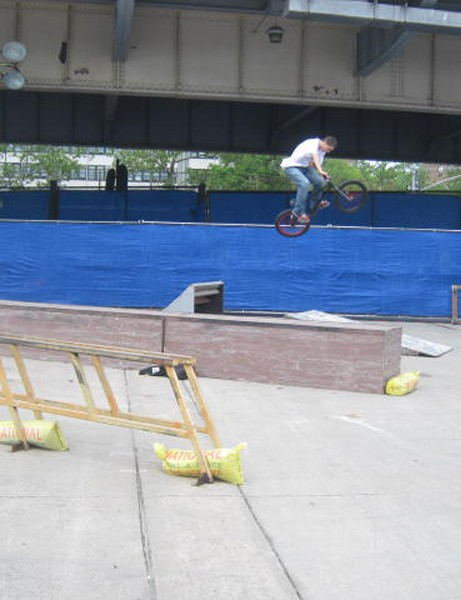 The expo featured a street BMX course, which was open to the public