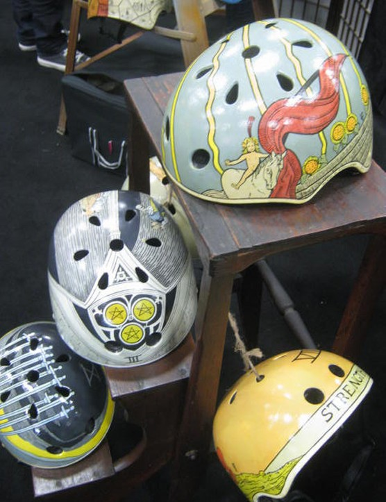 The unique designs at Belle helmets were hit among visitors