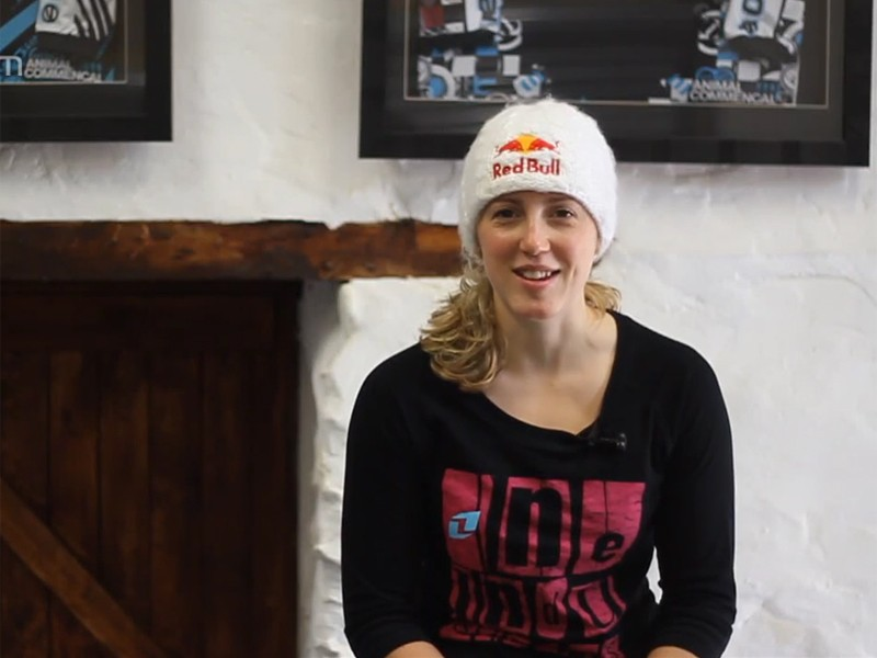Rachel Atherton is looking forward to getting back on her downhill bike