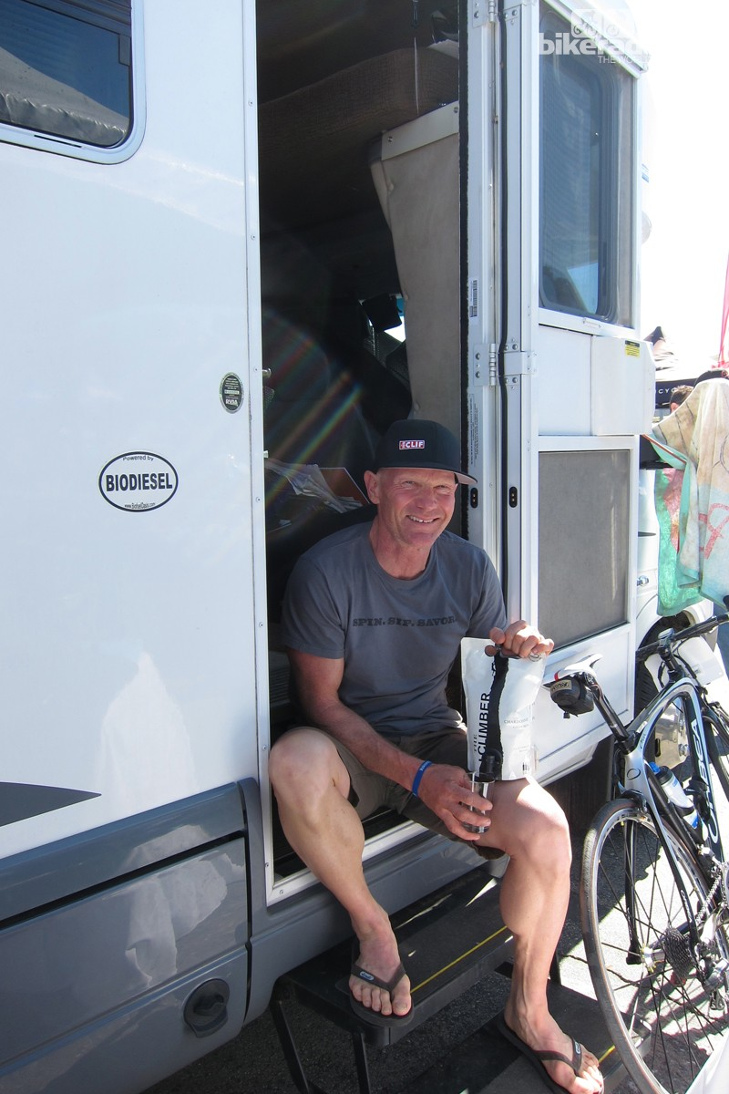 Erickson camped at Sea Otter this year, as he does every year