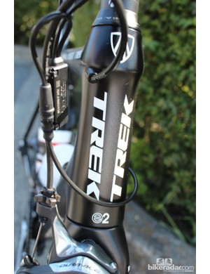 """Horner is one of five members of the team that prefer Trek's """"H2"""" geometry, which has a head tube that is 3cm taller than the """"H1"""" pro-style geometry"""