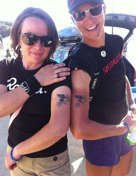 CycloFemme founder Sarai Snyder (left) with pro roadie Meredith Miller