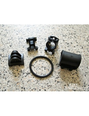 Four adaptors are supplied with the helmet for different cameras/lights