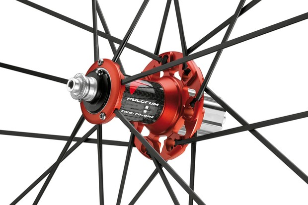 Fulcrum's Mega Drive Side rear hub is said to boost stiffness by eight percent on the new Limited Edition road wheels