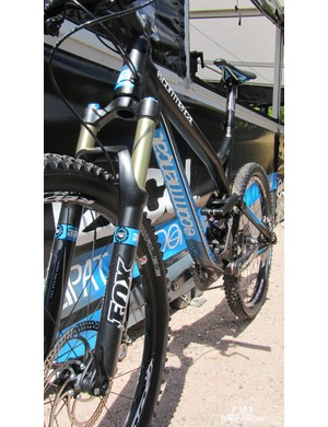 The Commencal Meta SL and its bold down tube graphics.