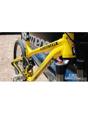 The Commencal Meta SX has a 66-degreee head angle.