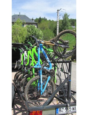 Getting ready for the bike park...