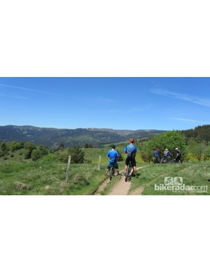 Riding in the Vosges mountains