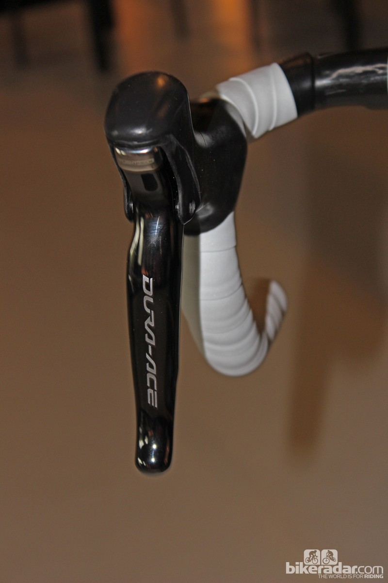The new brake lever shape has a more friendly feel from the hoods