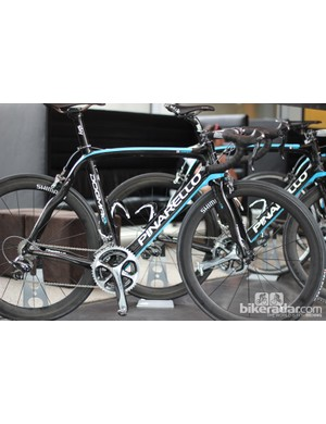 Team Sky's Alex Dowsett has been running the new 11-speed Dura-Ace on his Pinarello Dogma2 all season