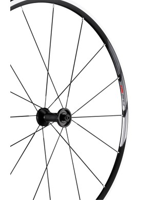 For those who can't stretch to Dura-Ace wheels, Shimano are bringing out some mid-range 11-speed offerings. This is the RS21 11-speed clincher