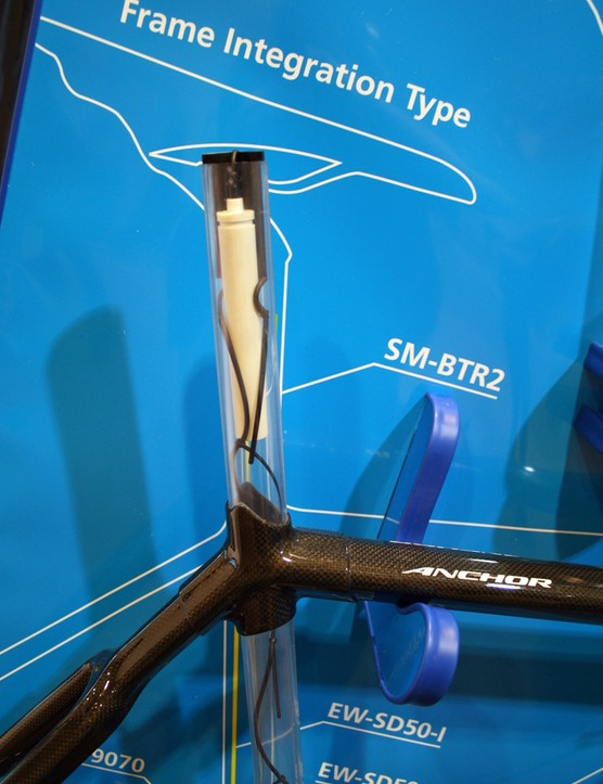Internal wiring provides a clean look for Shimano Dura-Ace Di2 9070